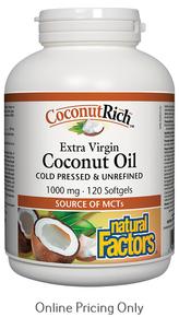 Natural Factors Coconut Oil 1000mg 120sg