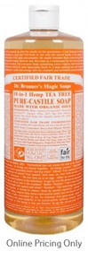 DR BRONNERS TEA TREE CASTILE SOAP 946ml