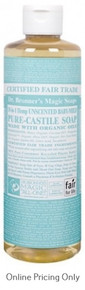 DR BRONNERS BABY MILD CASTILE SOAP 472ml