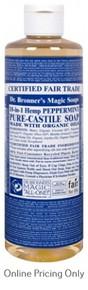 DR BRONNERS PEPPERMINT CASTILE SOAP 472ml