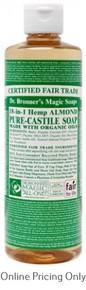 DR BRONNERS ALMOND CASTILE SOAP 472ml