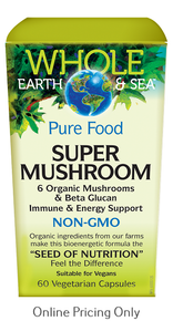 Natural Factors Whole Earth and Sea Super Mushroom 60vcaps