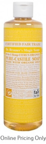 DR BRONNERS CITRUS ORANGE CASTILE SOAP 472ml