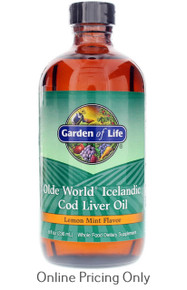 GARDEN OF LIFE COD LIVER OIL LEMON MINT 235ml