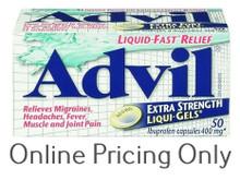 ADVIL EXTRA STENGTH LIQUID GELS 400mg 50lsg