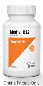 Trophic Vitamins B12 with Folic Acid 90tabs