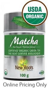 NEW ROOTS ORGANIC MATCHA GREEN TEA 100g