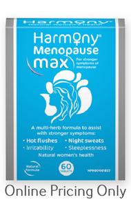 Martin & Pleasance Harmony Menopause Max 60tabs