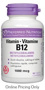 WomenSense Vitamin B12 Methlycobalamin 1000mcg 90tabs