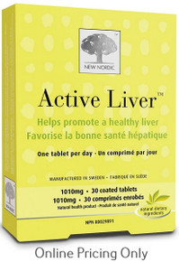 New Nordic Active Liver 10mg 30tabs