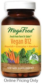 MegaFood Vegan B12 30tabs