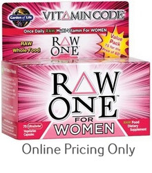 GARDEN OF LIFE VITAMIN CODE RAW ONE WOMEN 75caps