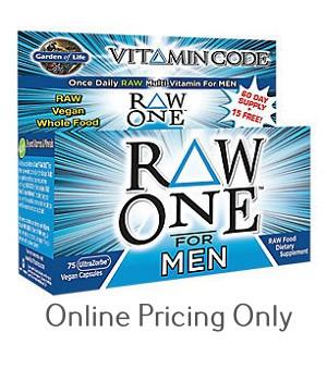 garden of life vitamin code men. GARDEN OF LIFE VITAMIN CODE RAW ONE MEN 75caps Garden Of Life Vitamin Code Men