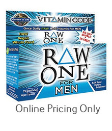 GARDEN OF LIFE VITAMIN CODE RAW ONE MEN 75caps