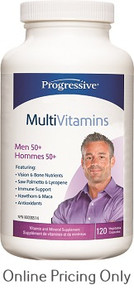 Progressive Multivitamin Men 50+ 120caps