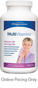 Progressive Multivitamin Women 50+ 120caps