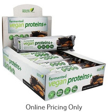 Genuine Health Fermented Vegan Protein Dark Chocolate Almond Bars Box of 12