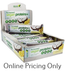 Genuine Health Fermented Vegan Protein Lemon Coconut Bars Box of 12