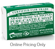 DR BRONNERS ALMOND SOAP BAR 142g