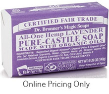 Dr. Bronners Lavender Soap Bar 142g