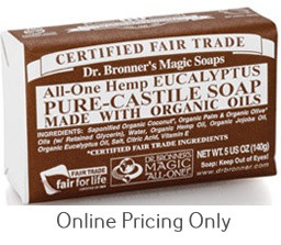 Dr. Bronner's Eucalyptus Soap Bar 142g