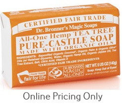 Dr Bronners Tea Tree Soap Bar 142g