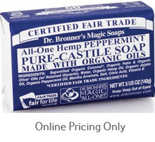 DR BRONNERS PEPPERMINT SOAP BAR 142g