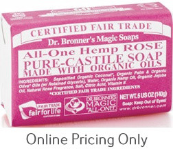 Dr. Bronner's Rose Soap Bar 140g
