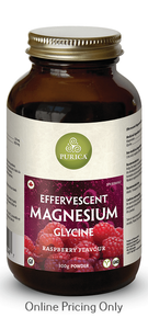 Purica Effervescent Magnesium Glycine Raspberry 300g