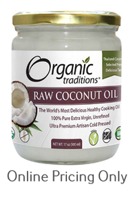 Organic Traditions Raw Coconut Oil 500ml