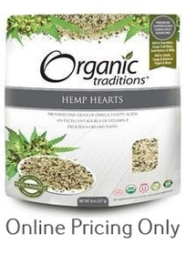 Organic Traditions Hemp Hearts 227g