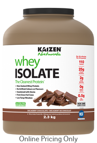 KAIZEN NATURALS WHEY ISOLATE CHOCOLATE 2.3kg