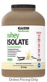 Kaizen Naturals Whey Isolate Vanilla 2.3kg