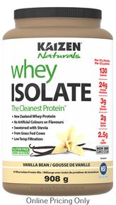 Kaizen Naturals Whey Isolate Vanilla 908g
