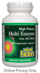 NATURAL FACTORS MULTI ENZYME 120vcaps