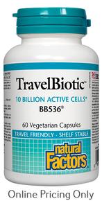 NATURAL FACTORS TRAVEL BIOTIC BB536 60vcaps
