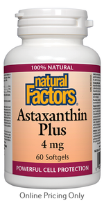 Natural Factors Astaxanthin Plus 4mg 60sg