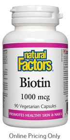 Natural Factors Biotin 1000mcg 90vcaps