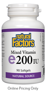 Natural Factors Mixed Vitamin E 200IU 90sg