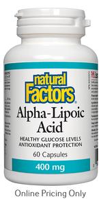 NATURAL FACTORS ALPHA LIPOIC ACID 400mg 60caps