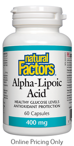 Natural Factors Alpha Lipoic Acid 400mg 60caps