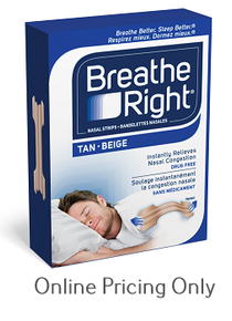Breathe Right Nasal Strips (Beige, Large) 30s