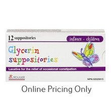 Rougier Infants - Child Glycerin Suppositories 12s
