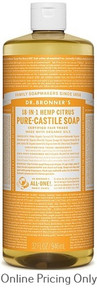 DR BRONNERS CITRUS ORANGE CASTILE SOAP 946ml