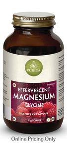 Purica Effervescent Magnesium Glycine Raspberry 150g