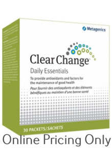 METAGENICS CLEAR CHANGE DAILY ESSENTIALS 30pks