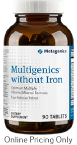 Metagenics Multigenics without Iron 90tbs