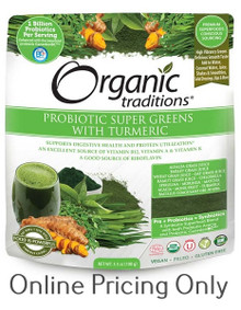 ORGANIC TRADITIONS PROBIOTIC SUPER GREENS WITH TUMERIC 100g