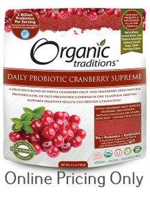 Organic Traditions Probiotic Cranberry Supreme 100g