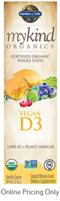 MY KIND ORGANICS VEGAN D3 SPRAY VANILLA 58ml